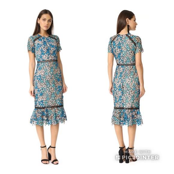 a7fdd94a Shoshanna Dresses | Nwt Octavia Floral Lace Dress Sz 2 | Poshmark
